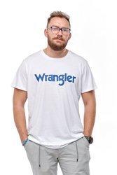 WRANGLER SS LOGO TEE WHITE W7M0D3989