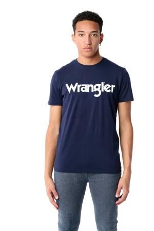 WRANGLER SS LOGO TEE NAVY W7M0D3114
