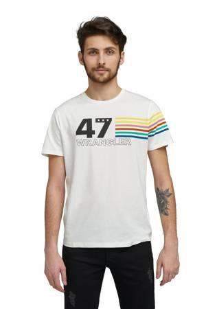WRANGLER SS RAINBOW TEE OFF WHITE W7F1FK737